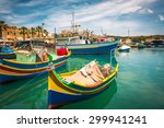 Colorful Fishing Boat In The...
