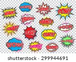 comic speech bubbles set  comic ... | Shutterstock .eps vector #299944691
