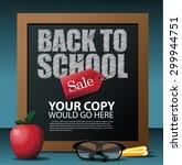 back to school marketing...   Shutterstock .eps vector #299944751