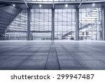 empty walkway in front of the... | Shutterstock . vector #299947487
