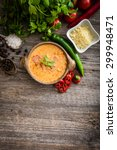 sope queso with vegetables and... | Shutterstock . vector #299948471