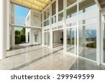 architecture  wide veranda of a ... | Shutterstock . vector #299949599