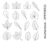 black and white leaves shape... | Shutterstock .eps vector #299958521
