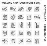 welding work and welding tools... | Shutterstock .eps vector #299961305