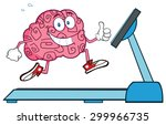 healthy brain cartoon character ... | Shutterstock . vector #299966735