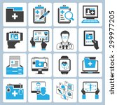 vector set of medical record... | Shutterstock .eps vector #299977205