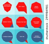 speech bubble graphic shapes of ...   Shutterstock .eps vector #299984981