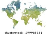 world map  designed illustrated ... | Shutterstock . vector #299985851