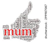family info text graphics and... | Shutterstock .eps vector #299987087