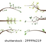 a set of vector branches with... | Shutterstock .eps vector #299996219