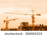 construction site silhouettes. | Shutterstock . vector #300002525