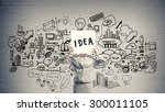 unrecognizable businesswoman... | Shutterstock . vector #300011105