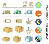 delivery icon set   vector eps... | Shutterstock .eps vector #300016961