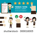 feedback and rating on customer ... | Shutterstock .eps vector #300018305
