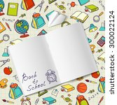 back to school text in a... | Shutterstock .eps vector #300022124