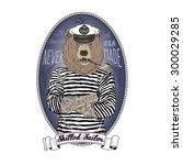 Bear Sailor  Nautical Poster ...