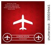plane icon | Shutterstock .eps vector #300034661