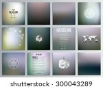 set of 12 creative cards ... | Shutterstock .eps vector #300043289