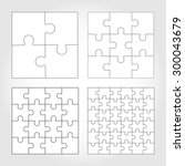 jigsaw puzzle four vector... | Shutterstock .eps vector #300043679