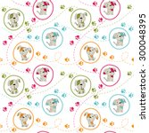seamless baby pattern. cute... | Shutterstock .eps vector #300048395