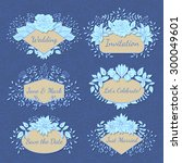 vector floral frame collection. ... | Shutterstock .eps vector #300049601