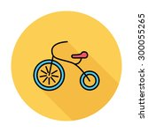 tricycle icon. flat vector... | Shutterstock .eps vector #300055265