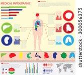 medical info graphics. human... | Shutterstock .eps vector #300056375