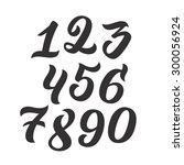 vector set of handwritten... | Shutterstock .eps vector #300056924