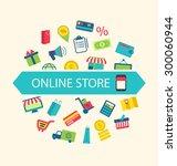 illustration e commerce... | Shutterstock .eps vector #300060944
