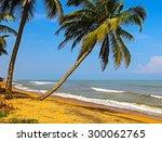 ocean coast of sri lanka in the ... | Shutterstock . vector #300062765