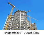 crane and building... | Shutterstock . vector #300064289