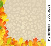 autumn background with yellow ... | Shutterstock .eps vector #300068291