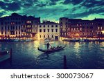 Grand Canal In Sunset Time ...