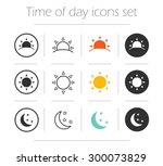 time of the day simple icons... | Shutterstock .eps vector #300073829