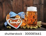 original bavarian oktoberfest...   Shutterstock . vector #300085661