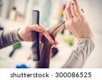 close up of a hairdresser... | Shutterstock . vector #300086525