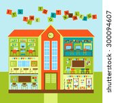 vector set with interiors of ... | Shutterstock .eps vector #300094607