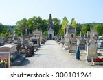 Small photo of ESSOYES, FRANCE - JULY 16 2015: View on the cemetary where the grave of the famous painter Renoir is situated on July 16 2015 in Essoyes in France.