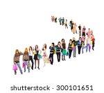shopping madness bags full  | Shutterstock . vector #300101651