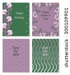 set of vector templates for... | Shutterstock .eps vector #300109901