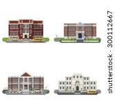 school and university buildings ... | Shutterstock .eps vector #300112667