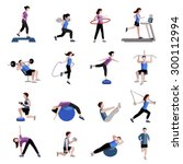 fitness cardio exercise and... | Shutterstock .eps vector #300112994