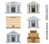 set of bank buildings on the... | Shutterstock .eps vector #300120251