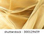 gold net cloth texture... | Shutterstock . vector #300129659