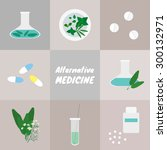 alternative medicine. pills ... | Shutterstock .eps vector #300132971