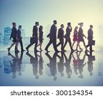 business people commuter... | Shutterstock . vector #300134354