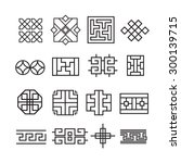 chinese ornament icon vector set   Shutterstock .eps vector #300139715