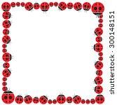 ladybug frame design   vector   ...   Shutterstock .eps vector #300148151