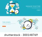 flat vector illustration. date... | Shutterstock .eps vector #300148769
