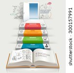 books step education... | Shutterstock .eps vector #300157991